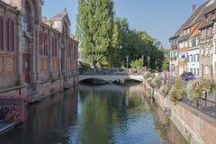 Lilla Venedig i Colmar Arkivbilder