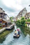 Lilla Venedig i Colmar, Frankrike Arkivfoton