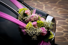 Lilla wedding car Stock Photos