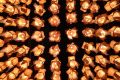 Lilla Yi Peng Lantern Fotografering för Bildbyråer
