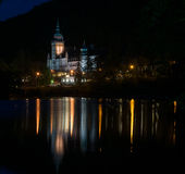 Lillafured palace at night Royalty Free Stock Images