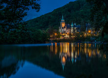 Lillafured palace night view Royalty Free Stock Images
