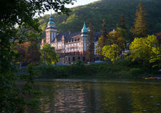 Lillafured palace surrounded with beautiful nature Royalty Free Stock Photo