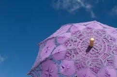 Lillaparaplu Royalty-vrije Stock Foto's
