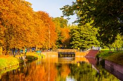 Lille autumn scene royalty free stock images