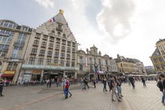 Lille central square Royalty Free Stock Images