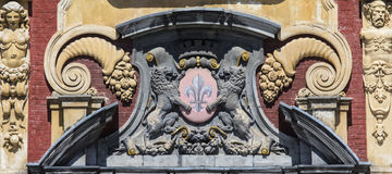 Lille Coat of Arms on Vieille Bourse Royalty Free Stock Photos