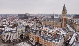 Lille de stad in stock foto