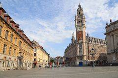 Place de Theatre in Lille, France Stock Photography