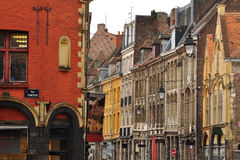 Lille, France. Street view: the old town Stock Images