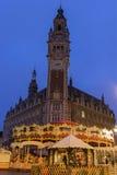 Lille in Francia durante il Natale Fotografie Stock Libere da Diritti