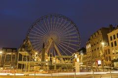 Lille in Frankrijk tijdens Kerstmis Stock Foto's