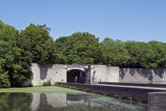 Lille gate (or Rijselpoort) in Ypres royalty free stock photos
