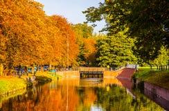 Lille-Herbstszene lizenzfreie stockbilder