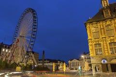 Lille i Frankrike under jul Arkivbilder
