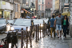 Lille a rainy evening Royalty Free Stock Photography