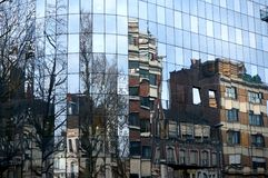 Lille Reflections. Reflections of buildings and trees in Lille France Royalty Free Stock Image