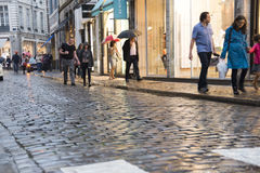 Lille shoppers at dusk Royalty Free Stock Image