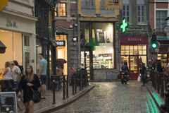 Lille shopping street at dusk Stock Photography