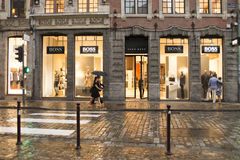 Lille shops at dusk Royalty Free Stock Photo