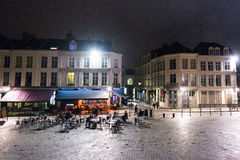 Lille square at night Royalty Free Stock Image