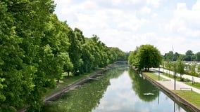 Lille, stad in Frankrijk Rivier stock video