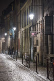 Lille streets at night Stock Photography