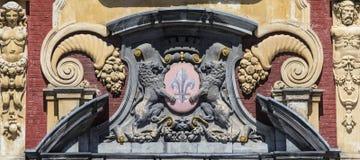 Lille-Wappen auf Vieille-Börse Lizenzfreie Stockfotos
