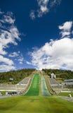 Lillehammer-Skispringen Stockbild