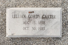 Lillian Carter grave Royalty Free Stock Image