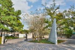 Lillie和休罗伊卡伦雕塑庭院在休斯敦,TX 免版税库存照片