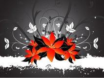 Lillies de Grunge Imagem de Stock