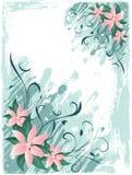 Lillies de Grunge Imagem de Stock Royalty Free