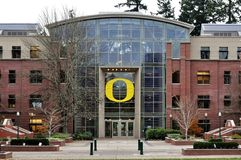Lillis Business Complex. Located on the University of Oregon Stock Photography