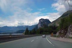 Lilloet高速公路的99,不列颠哥伦比亚省加拿大温哥华 免版税库存照片