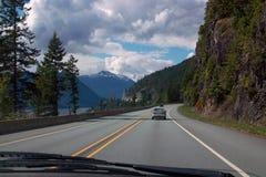 Lilloet高速公路99,不列颠哥伦比亚省加拿大 免版税库存照片