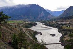 Lillooet och Fraser River, British Columbia, Kanada 4 royaltyfri foto