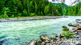 The Lillooet River in Nairn Falls Provincial Park Stock Image