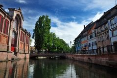 Lillte Venise в Кольмаре Стоковая Фотография RF