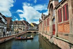 Lillte Venise in Colmar Stockfotos
