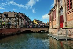 Lillte Venise in Colmar Stockfoto