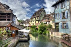 Lillte Venise in Colmar in HDR Royalty Free Stock Photography