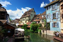 Lillte Venise in Colmar Stock Photos