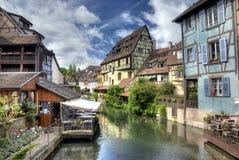 Lillte Venise em Colmar em HDR Fotografia de Stock Royalty Free