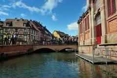 Lillte Venise i Colmar Arkivfoto