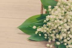 Lilly του μπουκέτου λουλουδιών κοιλάδων Στοκ εικόνα με δικαίωμα ελεύθερης χρήσης