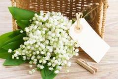 Lilly του μπουκέτου λουλουδιών κοιλάδων Στοκ φωτογραφία με δικαίωμα ελεύθερης χρήσης