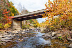 Lilly Bridge no rio selvagem e cênico de Obed Imagens de Stock