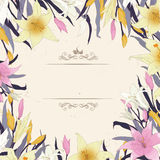 Lilly card vector Stock Images