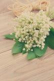 Lilly del bouquet della valle Fotografie Stock